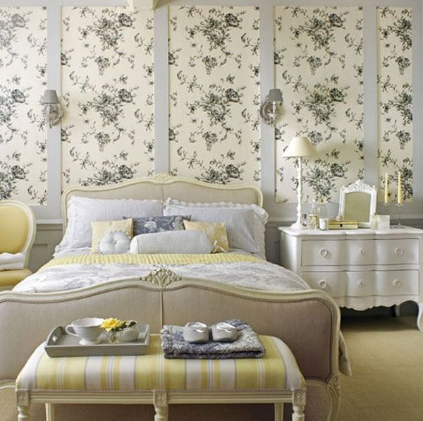 floral bedroom wallper design 20 Floral Bedroom Ideas with Wallpaper Theme