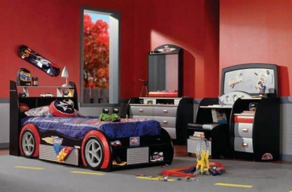 Cars kids beds decorating design for Automotive decoration