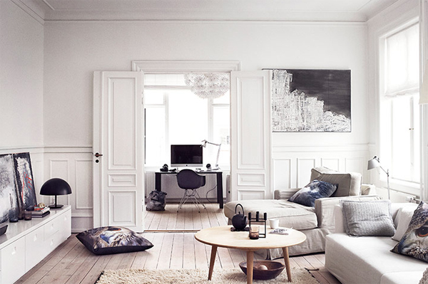 White Apartment futuristic white apartment with casual style in danish | home