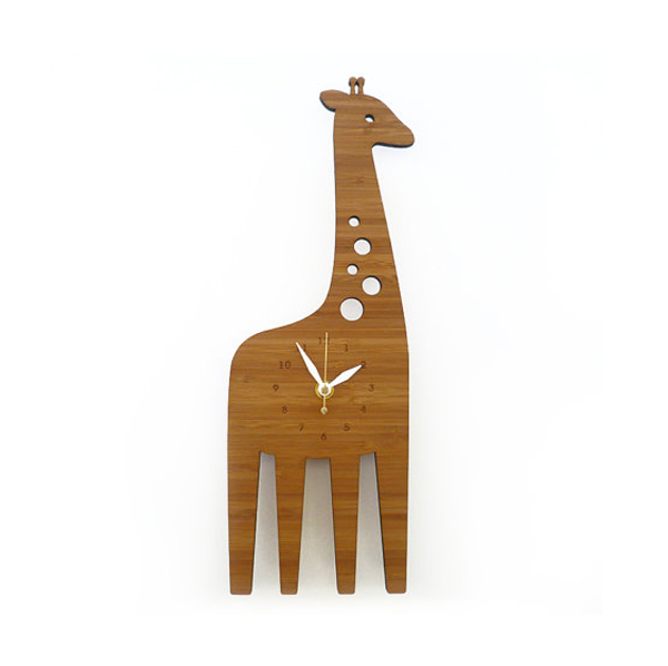 giraffe clock design Wooden Clock Ideas with Animal Themed