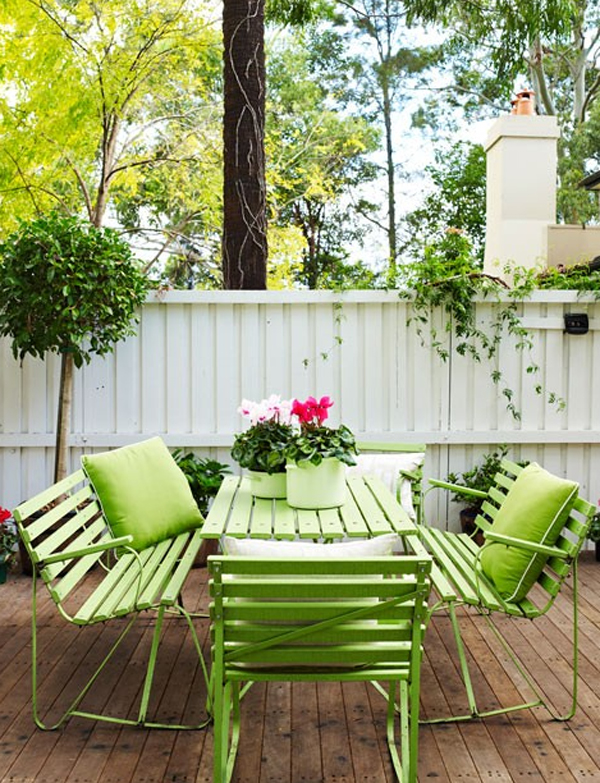 Green outdoor furniture garden backyard ideas - Outdoor furniture design ideas ...