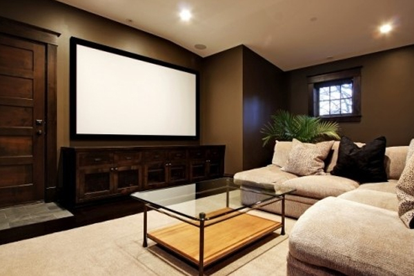 home theater decorations with sofas design