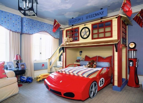 kids car bedroom design ideas