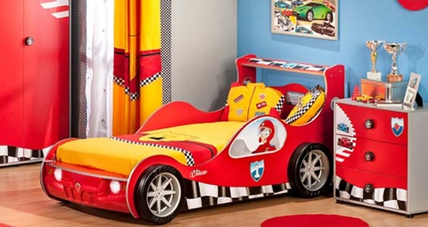 kids bedroom set with cars themed. Black Bedroom Furniture Sets. Home Design Ideas