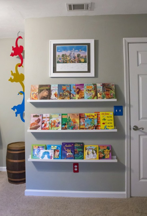 10 Cute Minimalist Bookshelves For Kids Rooms | homemydesign.