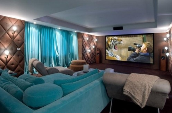 15 Cool and Minimalist Home Theater Design with Sofa Furnitures ...