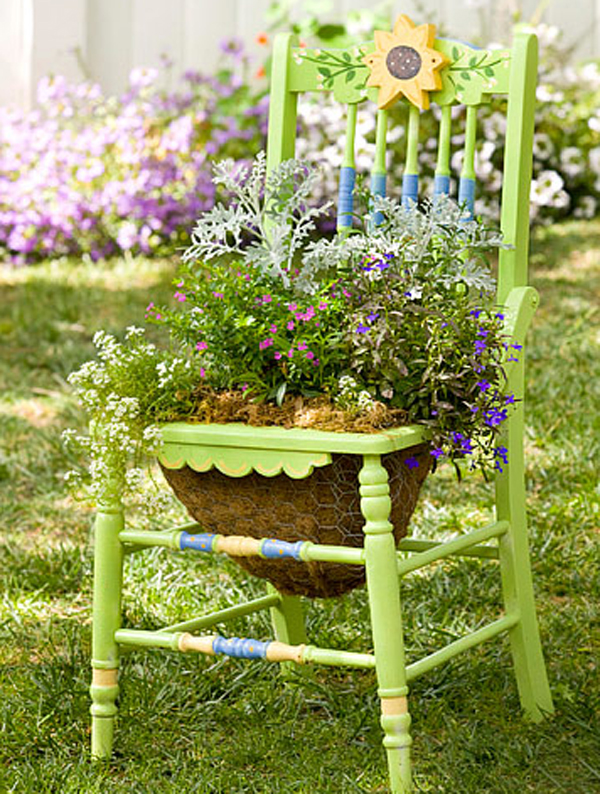 Creative Chair Planters For Home Garden Design And