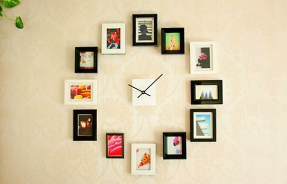 modern-clock-design-with-photo-wall-decorations