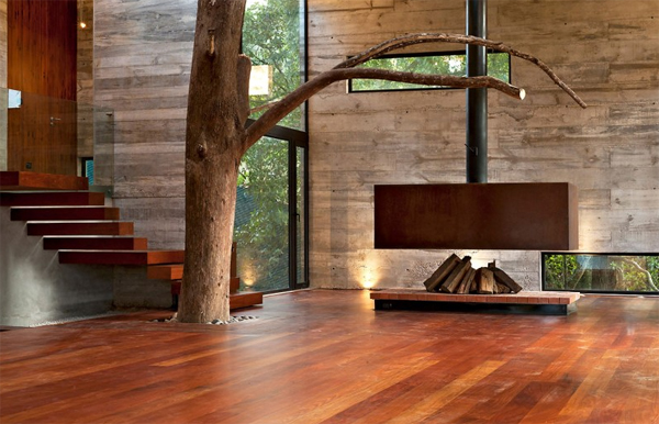 modern tree house with wood architecture in guatemala