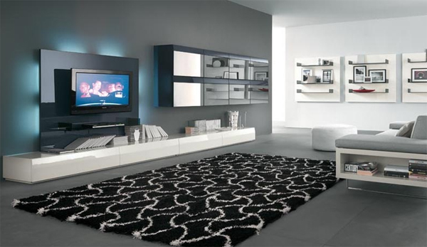 Tv Console Wall Decor : Modern tv stands decor with wall system furnitures