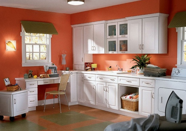 orange and colored laundry room | best layout 2013 | home design