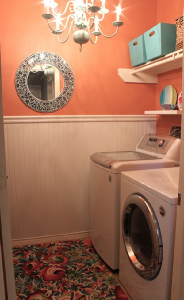 Orange and small laundry room layouts 2013 for Laundry room layouts that work