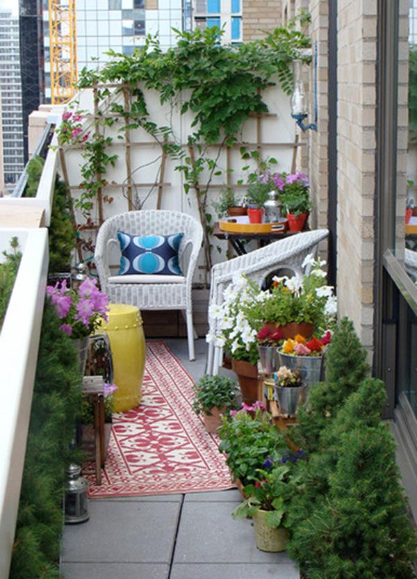 Cozy Balcony Decorating Ideas: 15 Small Outdoor Furniture Design For Cozy Balcony