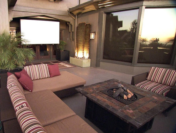 Outdoor home theater ideas