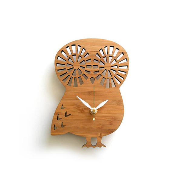owl clock design with wooden furniture Wooden Clock Ideas with Animal Themed