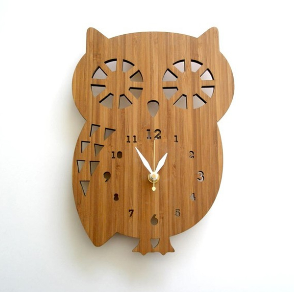 Wooden Clock Ideas With Animal Themed Home Design And