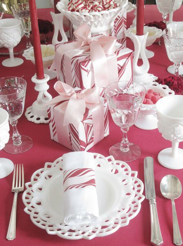 20 Collection Of Christmas Table Setting Ideas Home