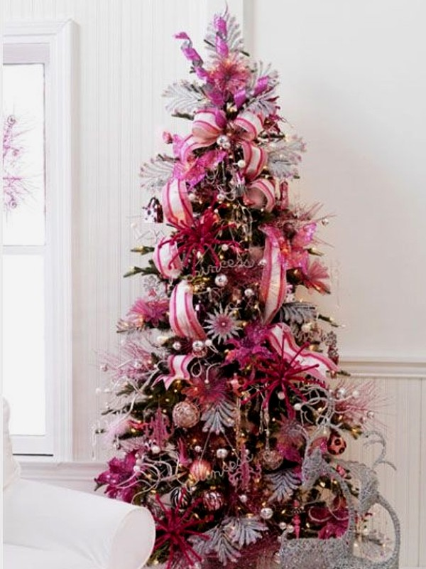 Cute and beautiful pink christmas tree decoration ideas Christmas tree ornaments ideas