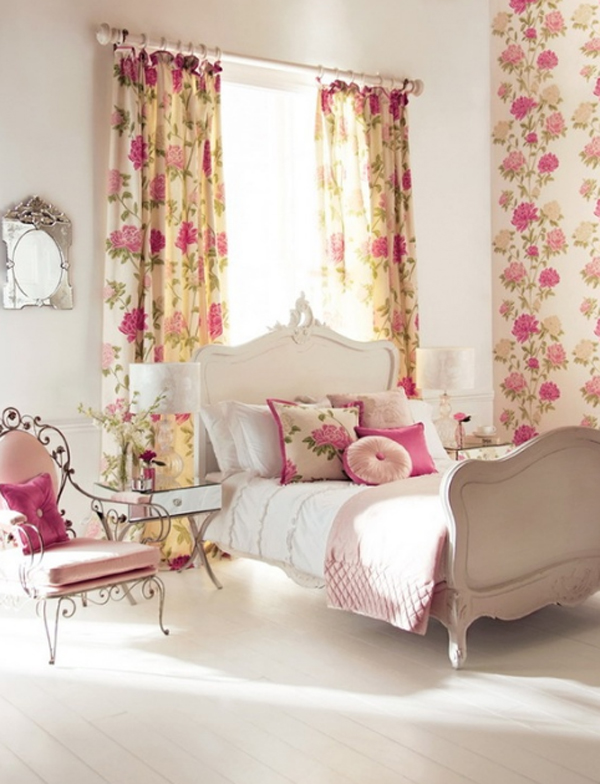 Pink floral bedroom ideas for Floral bedroom decor