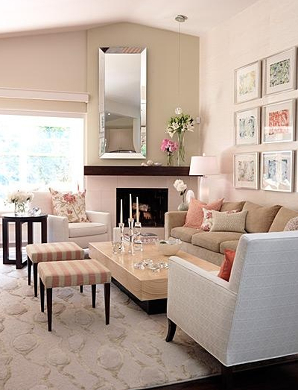 Pink pastel living room decorating ideas for Living room ideas pastel