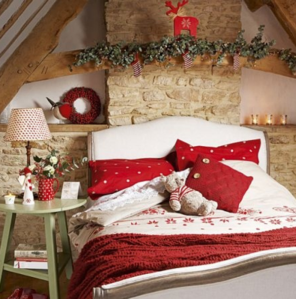 red and white christmas bedroom theme - Red And White Bedroom Decorating Ideas