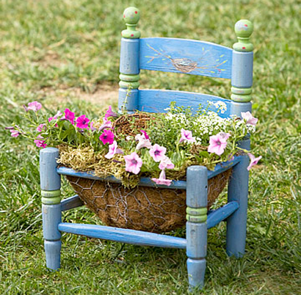 15 Creative Garden Ideas You Can Steal: Creative Chair Planters For Home Garden