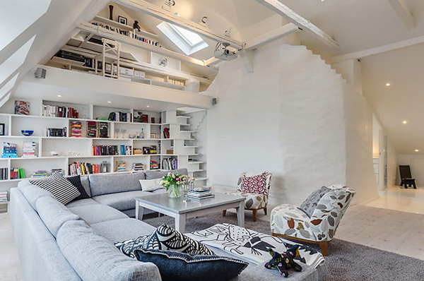 Small And White Apartment Interior Design Homemydesign