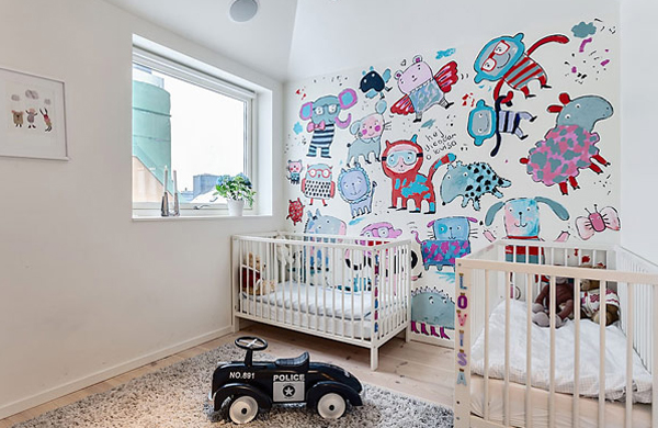 Small And White Apartment With Kids Room Ideas
