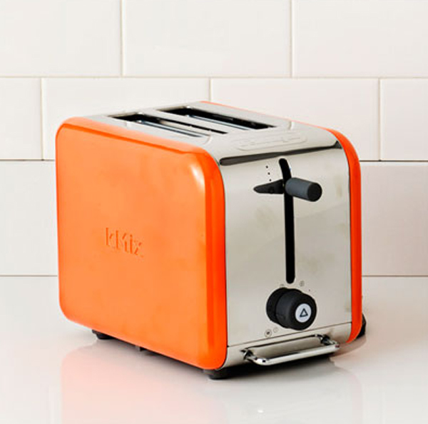 small kitchen appliances with orange color 15 Cool and Colorful Small Kitchen Appliances