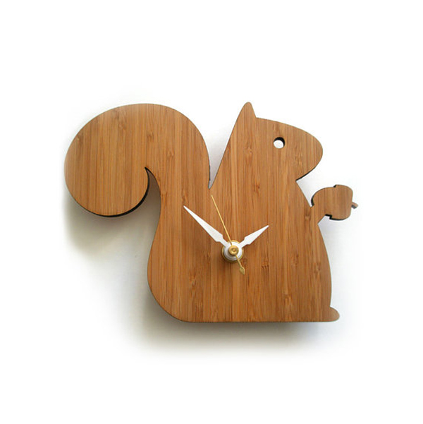 squirrel clock ideas with animal themed Wooden Clock Ideas with Animal Themed