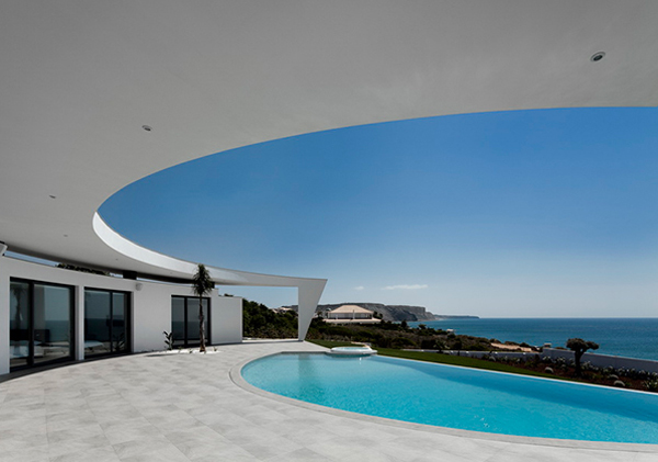 Swimming pool design in contemporary house for Pool design architecture