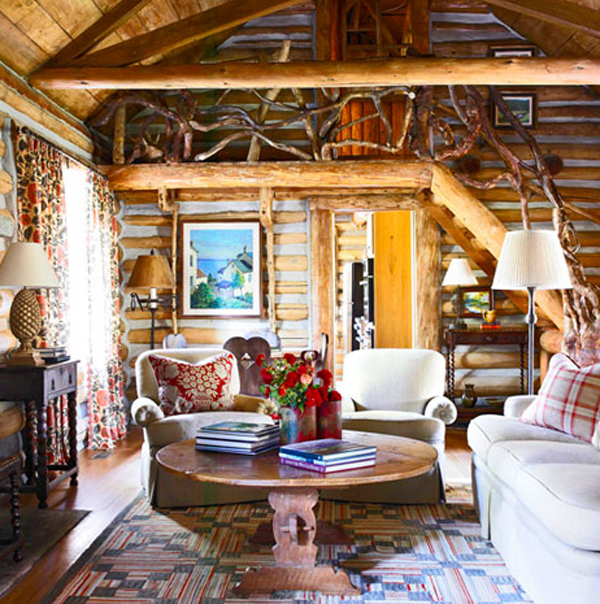 Amazing Log Cabin Interior Design for Homes 600 x 604 · 408 kB · jpeg