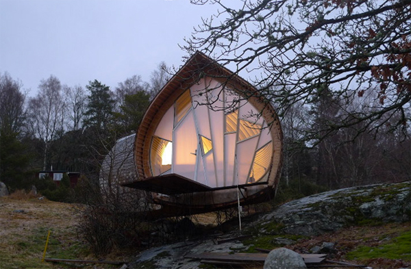 Unique wooden small house in swedish home design and for Unique small house designs