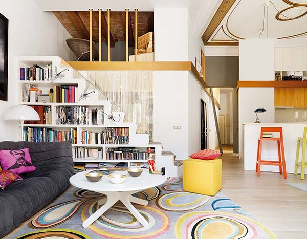 Apartment Shelving Ideas White And Modern Apartments With Clever Bookshelves Ideas  Home