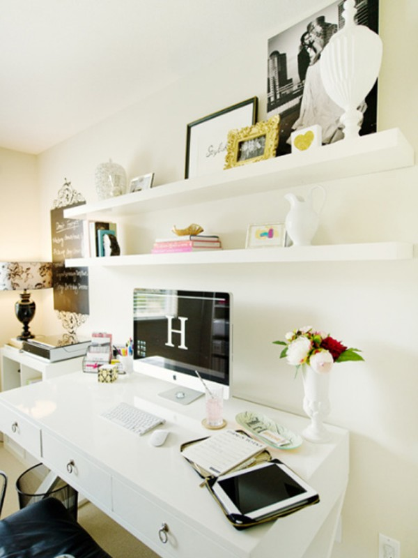 Cool White Office Room Design