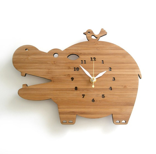 wood clock ideas with animal themed Wooden Clock Ideas with Animal Themed