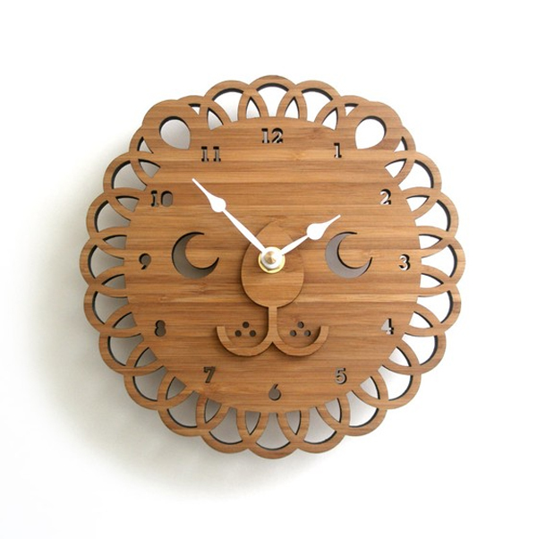 wooden clock designs Wooden Clock Ideas with Animal Themed