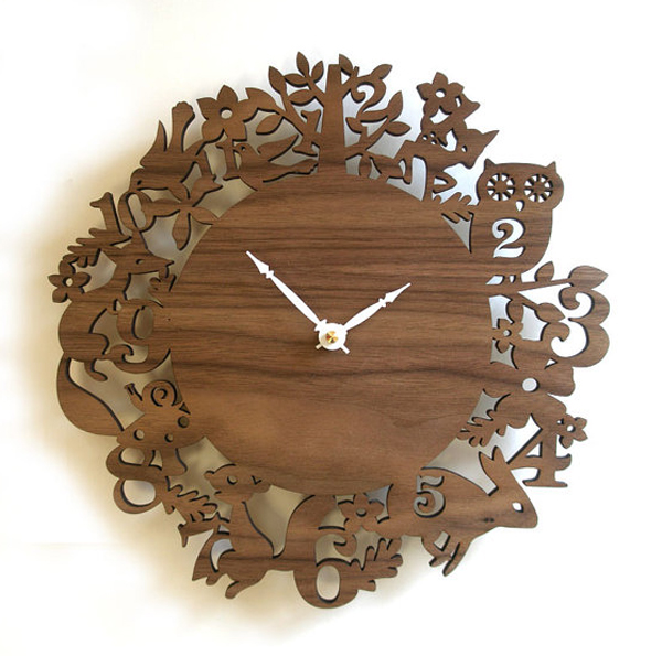 wooden clock ideas Wooden Clock Ideas with Animal Themed