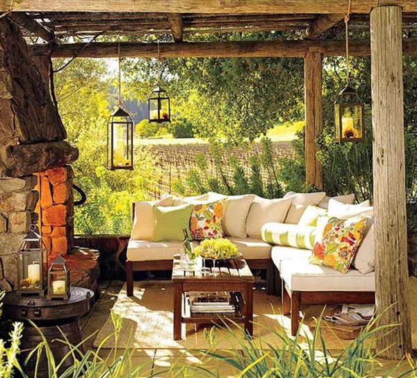 Wooden-outdoor-furniture-garden- Ideas