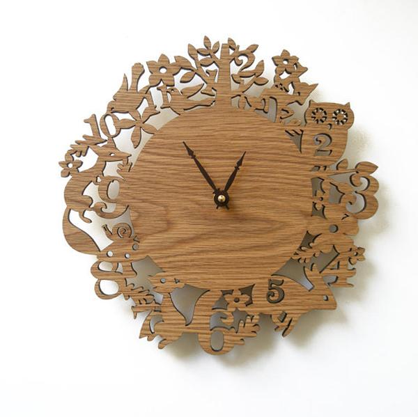Wooden Wall Clock Decor