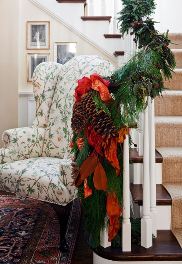 beautiful christmas stair decor ideas