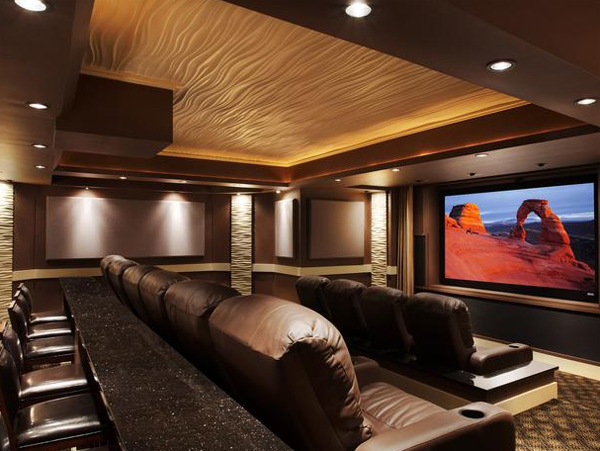 24 inspiring home theater design best collection from for Home theatre ideas design