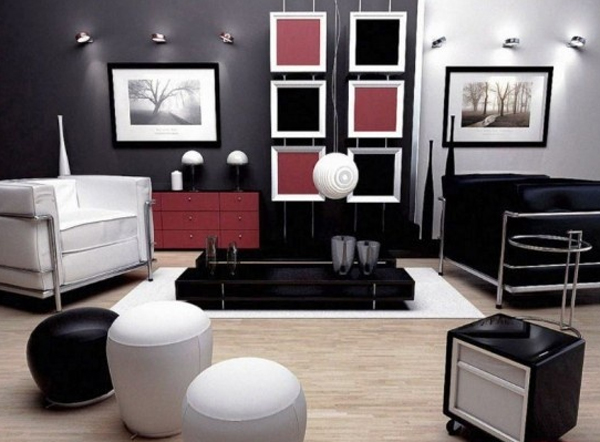 Contemporary black and red bedroom design ideas for Red and black bedroom designs
