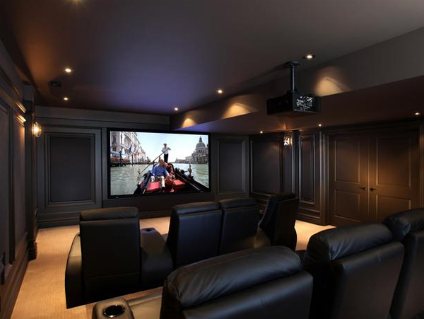 Contemporary home theater design from cedia Home theatre room design ideas in india
