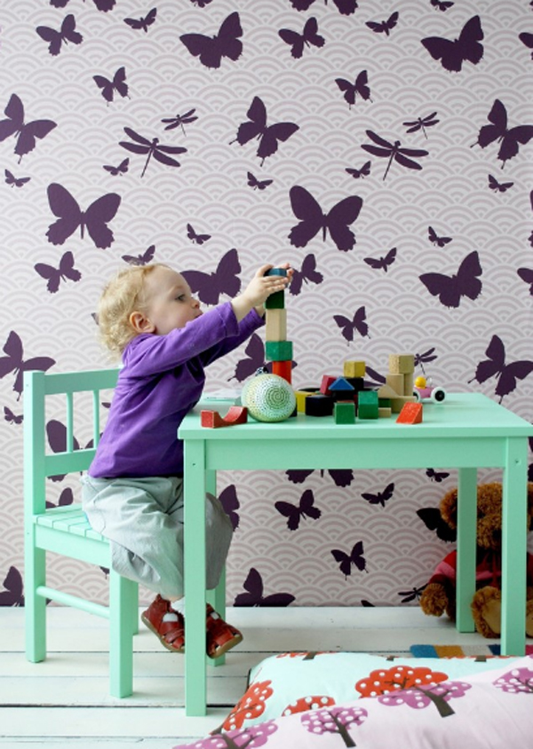17 cool and creative kids room wallpaper ideas home for Kids room wall paper