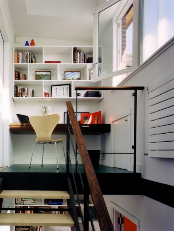 Cool and stylish office desk in closet decoration for Stylish home office