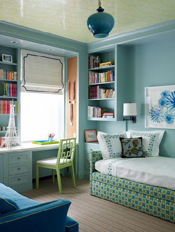 cool and wonderful kids room design with office decorating