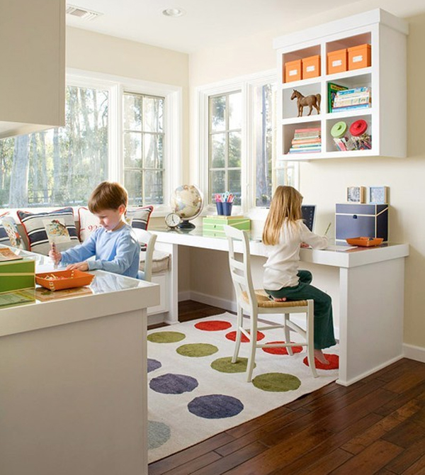 Cool And Wonderful Kids Office Room Design Ideas