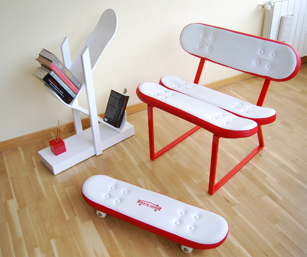 cool furniture ideas with skateboard style from skate home ForCool Furniture Ideas