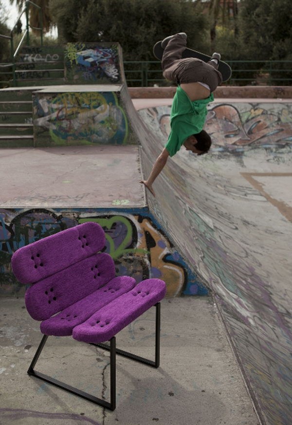 cool skateboard chair furniture design Cool Furniture Ideas With Skateboard Style From Skate Home